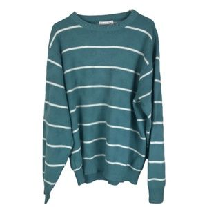 Vintage Christian Dior Striped Sweater Knit XL